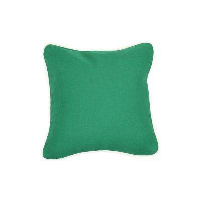 12 in. x 12 in. Emerald  Standard Pillow with Green Eco Friendly Insert