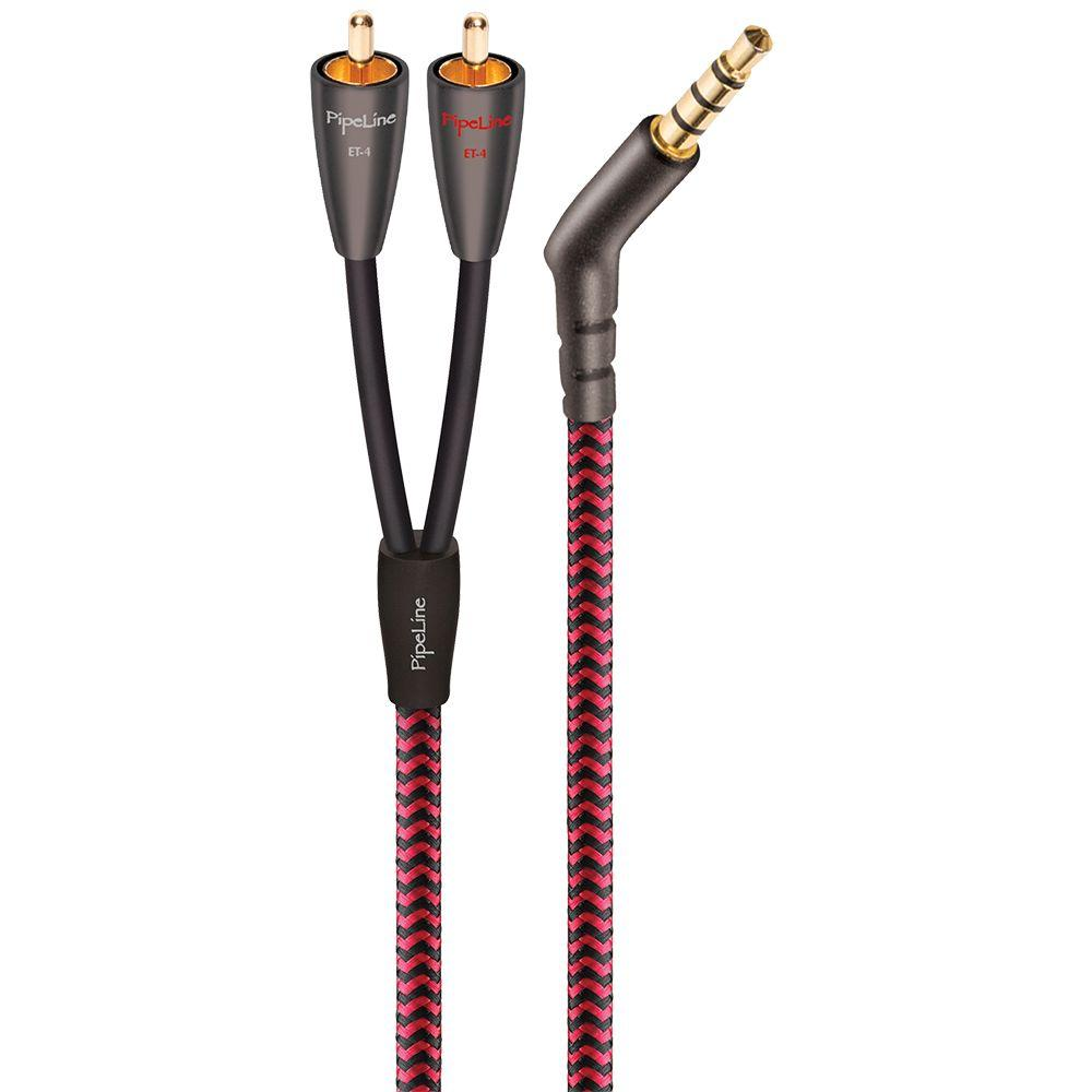 ET-4 3 ft. 3.5mm to RCA Stereo Audio Cable - Black