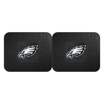 NFL Philadelphia Eagles Black Heavy Duty 2-Piece 14 in. x 17 in. Vinyl Utility