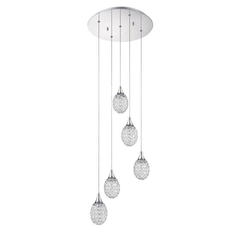 Filament Design Hypatia 5-Light Chrome Multi-Light Pendant