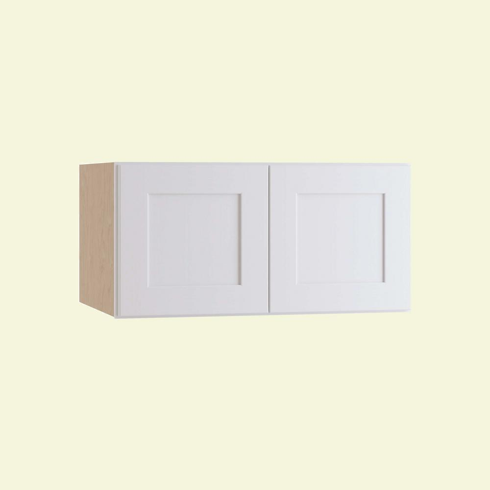 Home Decorators Collection Newport Assembled 33 in. x 15 in. x 24 in. Wall Kitchen Cabinet with Double Doors in Pacific White