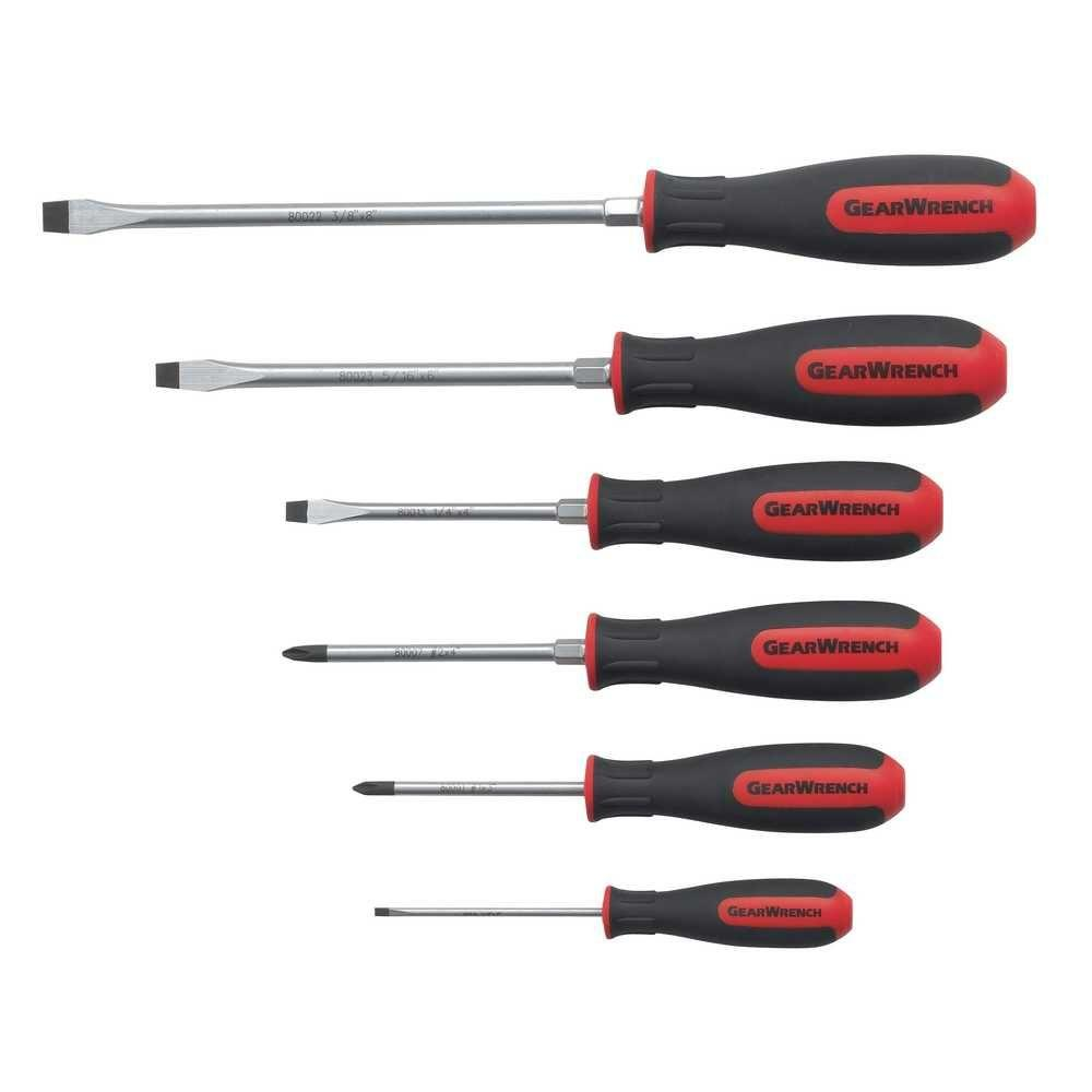 GearWrench Combination Dual Material Screwdriver Set (6-Piece)