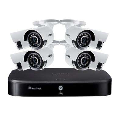 Surveillance System 8-Channel 4K DVR with 2TB and 8 4K Cameras