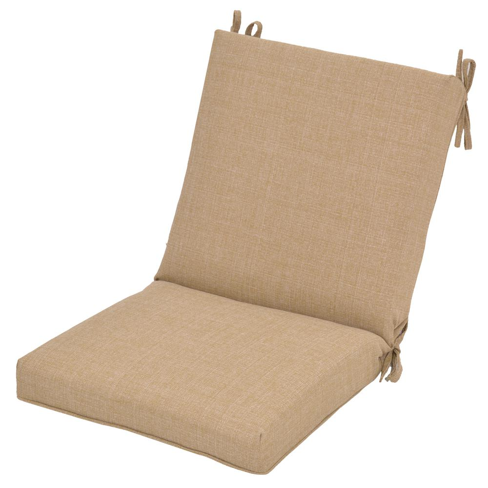 Merveilleux Hampton Bay 20 X 17 Outdoor Dining Chair Cushion In Standard Toffee/Toffee  Ogee