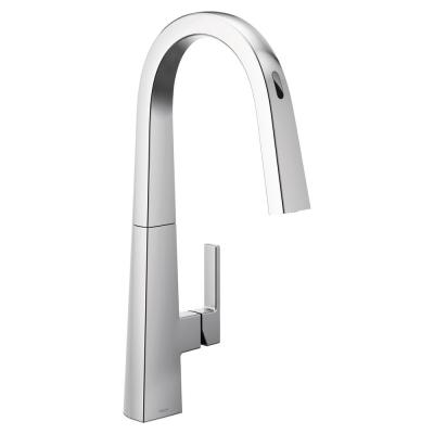 U by Moen Nio Single-Handle Pull-Down Sprayer Smart Kitchen Faucet with Voice Control and Power Clean in Chrome