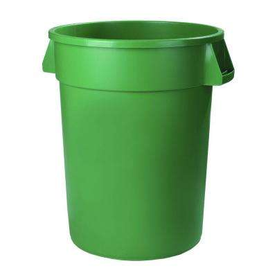 Bronco 10 Gal. Green Round Trash Can (6-Pack)