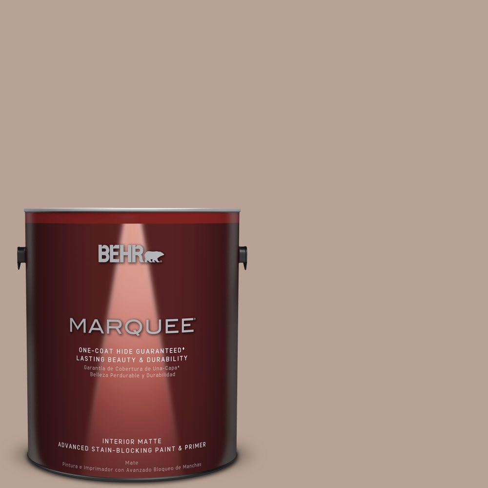 1 gal. #N190-4 Rugged Tan One-Coat Hide Matte Interior Paint