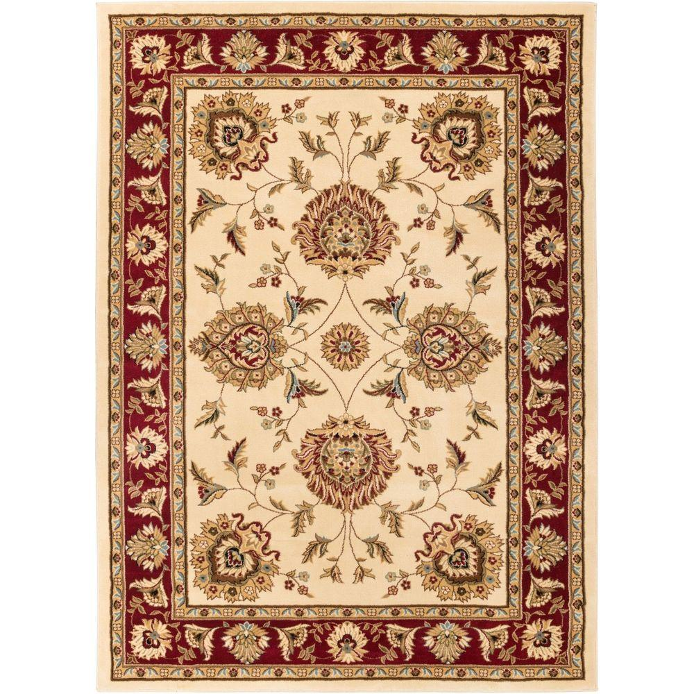 Royal Border Oriental Rug By Rug Culture: Well Woven Timeless Abbasi Ivory Area