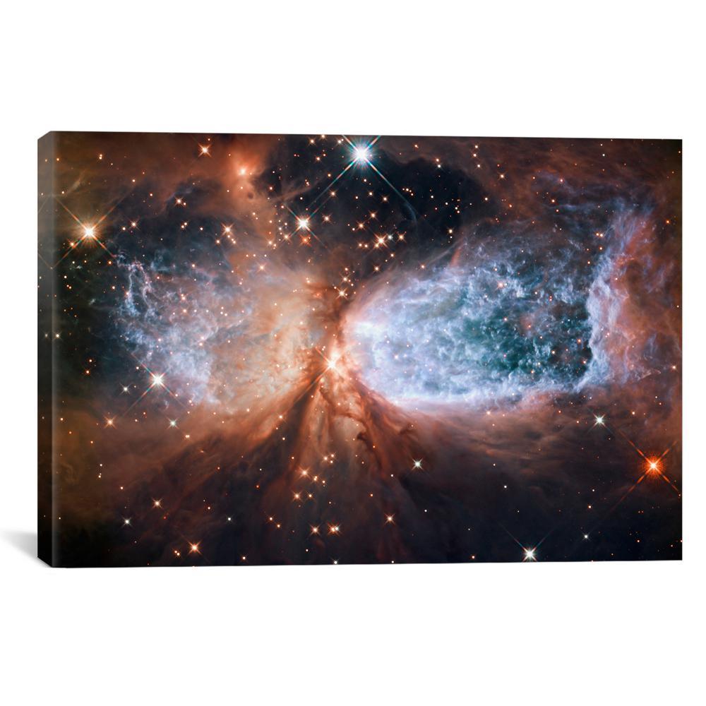 """Celestial Snow Angel S106 Nebula (Hubble Space Telescope)"" by NASA Canvas Wall Art"