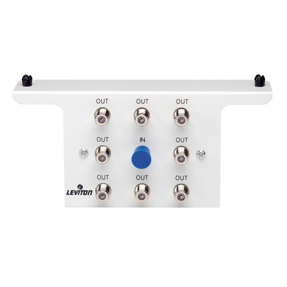 Leviton Structured Media 1x8 (8-Way) 1GHz White Passive Video Splitter Module-DISCONTINUED