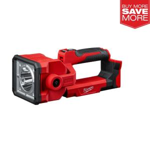 Milwaukee M18 1250 lumens Red LED Search Light + Battery Pack