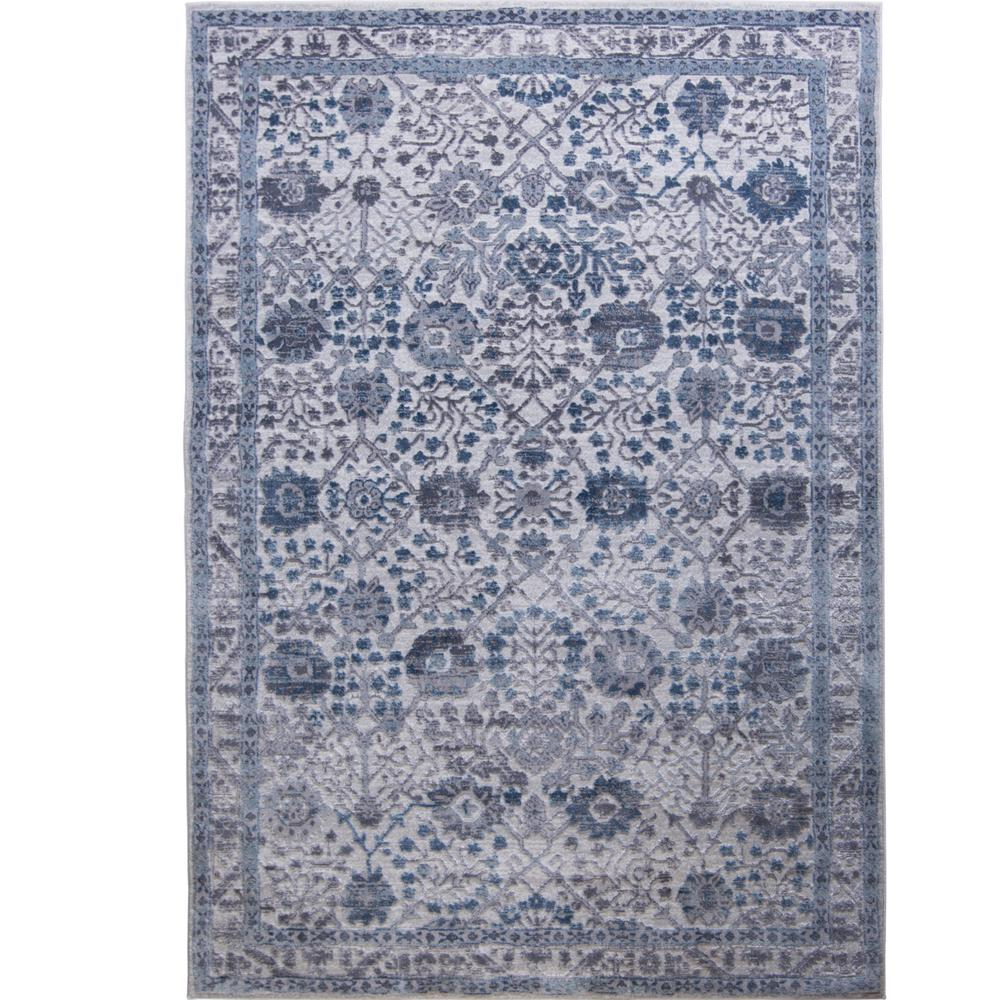 Home Dynamix Kenmare Gray Blue 2 Ft 7 In X 3