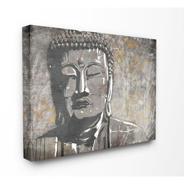 Tremendous 30 In X 40 In Distressed Surface Tan And Grey Buddha Mural By Onrei Canvas Wall Art Download Free Architecture Designs Boapuretrmadebymaigaardcom