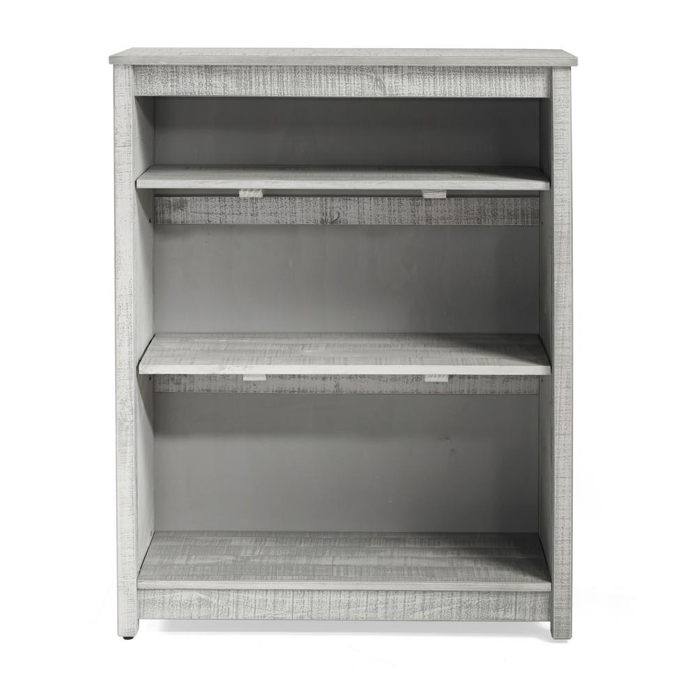 Rustic Tall Bookcase, Rustic Gray