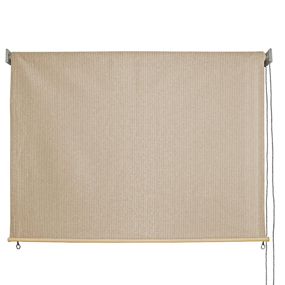 Sandbar HDPE Fabric Cord Operated Exterior Roller Shade - 120 in.