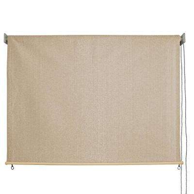 Sandbar HDPE Fabric Cord Operated Exterior Roller Shade - 96 in. W x 72 in. L