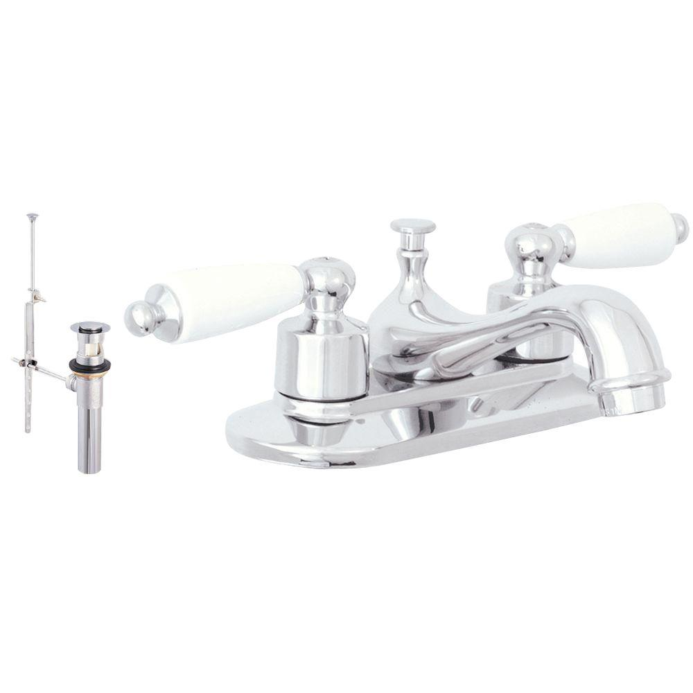 Prestige Collection Decorative 4 in. Centerset 2-Handle Bathroom Faucet with