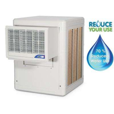 Water Conservation Evaporative Cooler, Cools up to 1000 sq. ft., 1/3-HP 2-Speed Motor; High Efficiency Rigid Media