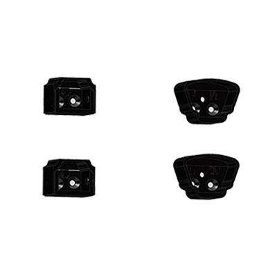 Classic Black Aluminum Straight Bracket Kit (4-Piece)