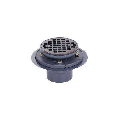 Brass and PVC Round Shower Drain and Strainer in Oil-Rubbed Bronze