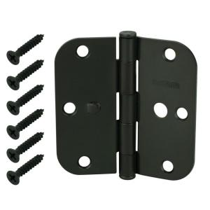 3-1/2 in. Oil-Rubbed Bronze 5/8 in. Radius Security Door Hinges Value Pack (3-Pack)