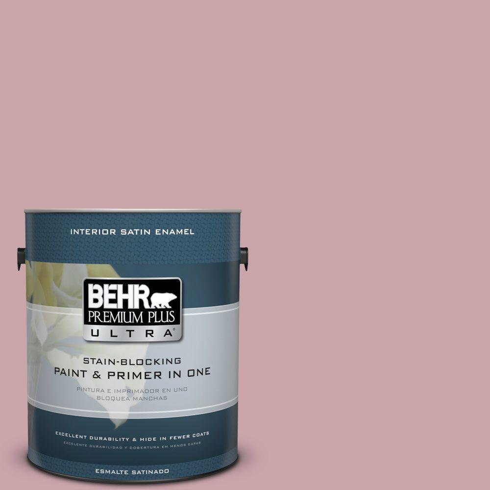 1 gal. #HDC-CT-08A Hydrangea Bouquet Satin Enamel Interior Paint
