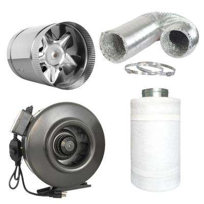 677 CFM 8 in. Centrifugal Inline Duct Fan with 8 in. Booster Fan Complete System for Indoor Grow Room Ventilation