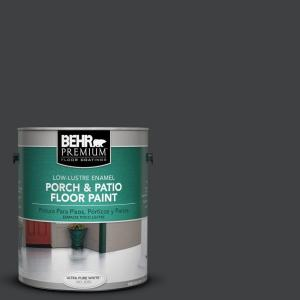 1 gal. #PFC-75 Tar Black Low-Lustre Interior/Exterior Porch and Patio Floor Paint