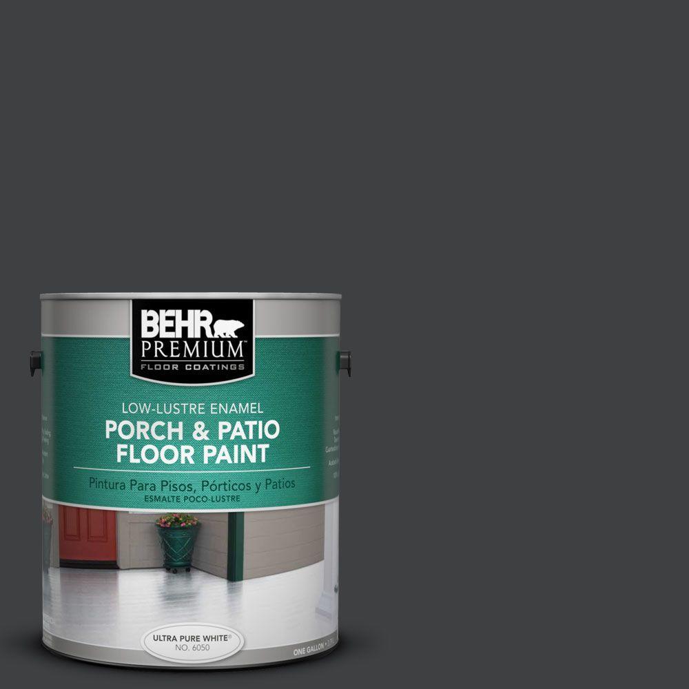 1 gal. #PFC-75 Tar Black Low-Lustre Interior/Exterior Porch and Patio Floor Paint