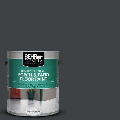 1 gal. #PFC-75 Tar Black Low-Lustre Porch and Patio Floor Paint