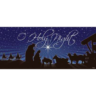 7 ft. x 16 ft. Nativity O'Holy Night Christmas Garage Door Decor Mural for Double Car Garage