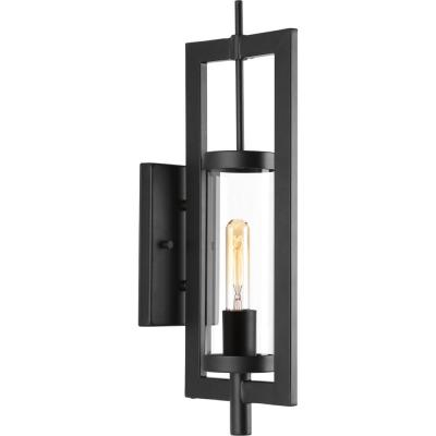McBee Collection 1-Light Black 20.75 in. Outdoor Wall Lantern Sconce