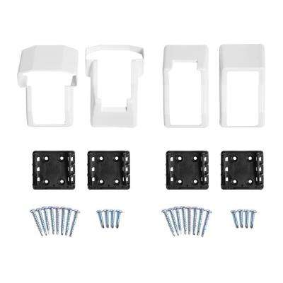 Vanderbuilt/Delray/Bellaire/Vilano White Stair Railing Bracket Kit (4-Piece)
