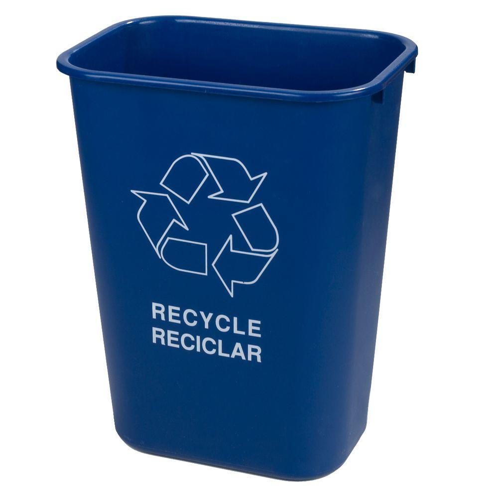 Carlisle 41.25 qt. Blue Recycling Logo Wastebasket (12-Pack) by Carlisle