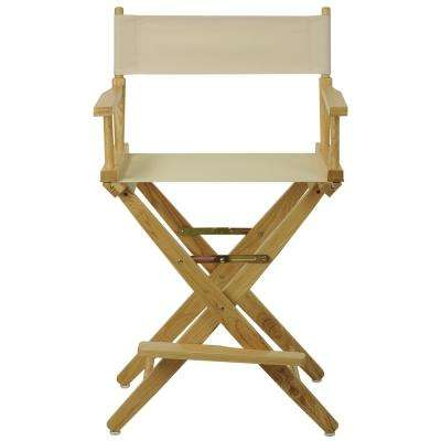 Natural Extra-Wide  Frame/Natural Canvas American Hardwood 24 in. Directors Chair