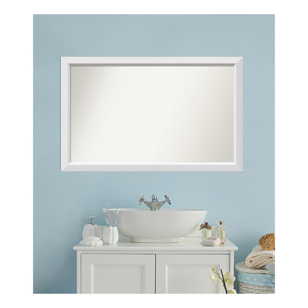 Amanti Art 29 in. x 46 in. Blanco White Wood Framed Mirror was $498.9 now $249.94 (50.0% off)