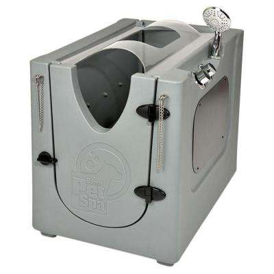 35 in. x 24.7 in. Pet Shower and Grooming Enclosure with Splash Guard