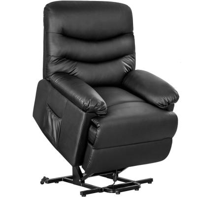 Black PU Leather Lift Recliner Chair