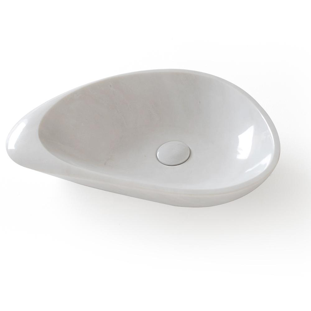 Eviva Fontana China Vessel Sink in White with Overflow Drain