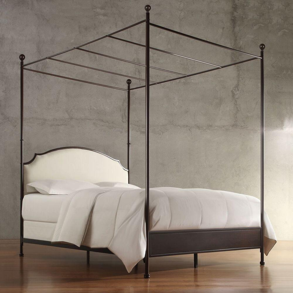 497b0db9afb Homesullivan Bridgewater Antique Bronze King Canopy Bed 40e638bk