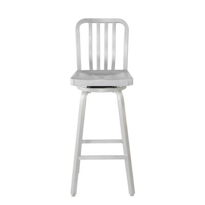 Sandra 30 in. Brushed Aluminum Swivel Bar Stool