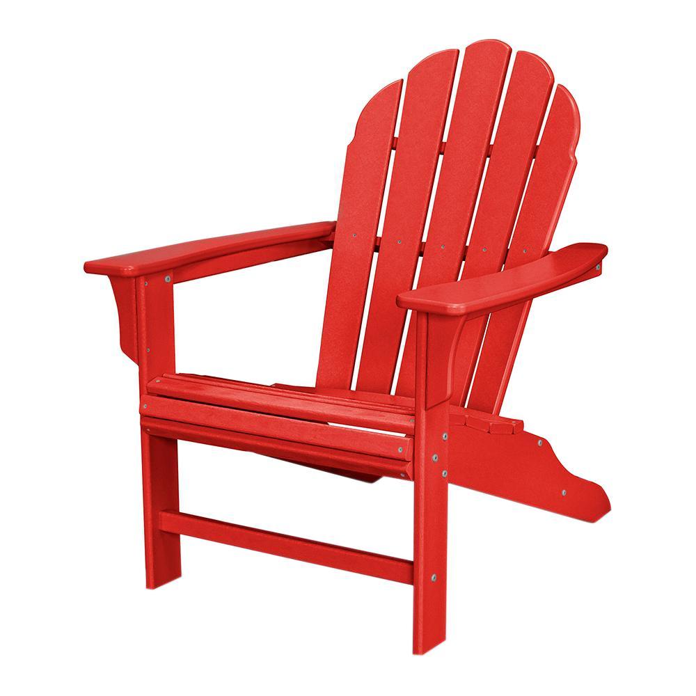 Trex Outdoor Furniture HD Sunset Red Patio Adirondack Chair-TXWA16SR - The  Home Depot - Trex Outdoor Furniture HD Sunset Red Patio Adirondack Chair-TXWA16SR
