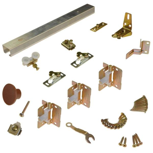 111FD Series 36 in. Track and Hardware Set for 2-Panel Bi-Fold Doors