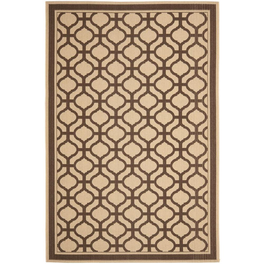 Martha Stewart Living Tangier Cream/Chocolate 4 ft. x 5 ft. 7 in. Area Rug