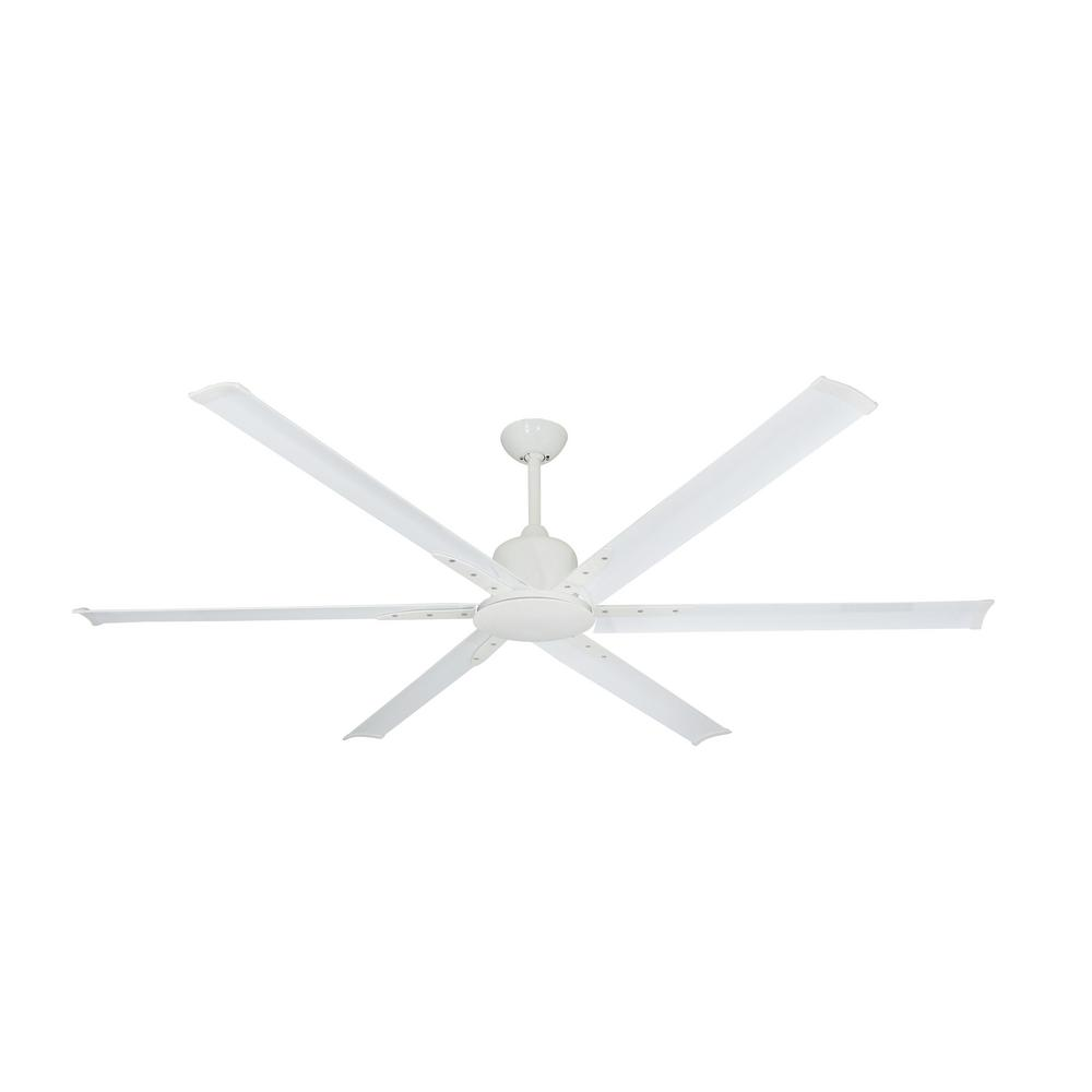 Titan II 72 in. Indoor/Outdoor Pure White Ceiling Fan with Remote