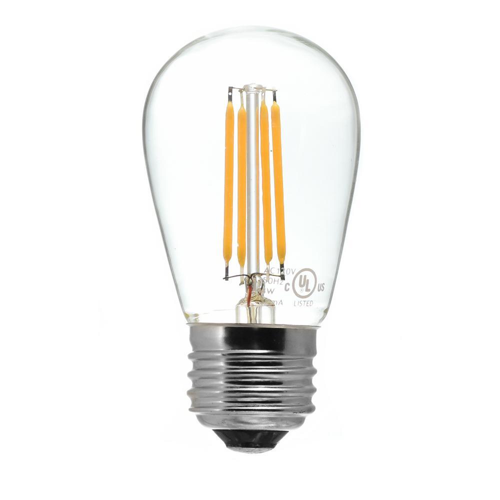40-Watt Equivalent S14 Medium Base Dimmable Clear LED Light Bulb Warm White