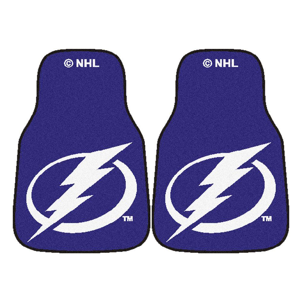 Tampa Bay Lightning 18 in. x 27 in. 2-Piece Carpeted Car