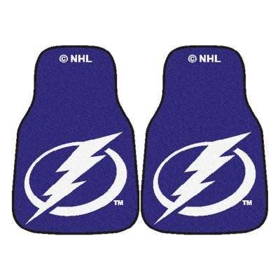 Tampa Bay Lightning 18 in. x 27 in. 2-Piece Carpeted Car Mat Set