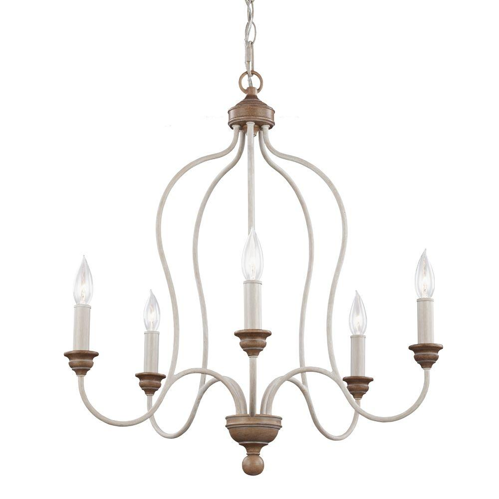 Feiss hartsville 5 light chalk washedbeachwood single tier feiss hartsville 5 light chalk washedbeachwood single tier chandelier mozeypictures Image collections