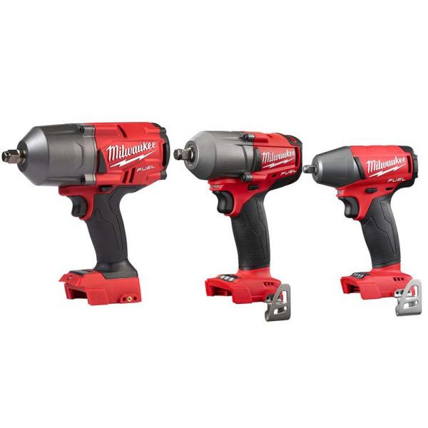 M18 FUEL 18-Volt Lithium-Ion Brushless Cordless 1/2 in. High Torque/Mid Torque/3/8 in. Impact Wrench Combo Kit (3-Tool)